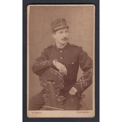PHOTO CDV D'UN OFFICIER AU 97 ème REGIMENT D'INFANTERIE DE LIGNE