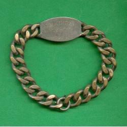 PLAQUE D'IDENTITE MILITAIRE TROUPE BOUCOIRAN CLEMENT 1929 A NIMES GUERRE 39-45
