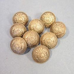 BOUTONS MILITAIRES INTENDANCE DIAMETRE 2.2 cm EPOQUE 1870-1945