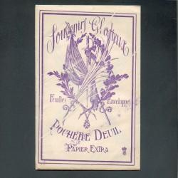POCHETTE POUR CORRESPONDANCE DE DEUIL GUERRE 1914-1918
