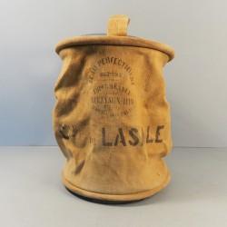 SCEAU A EAU SAPEURS POMPIERS CASERNE DE LASALLE (GARD) FABRICATION ANCIENNE VERS 1900