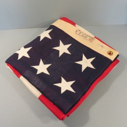 U.S.A. GRAND DRAPEAU FABRICATION BULL DOG BUNTING DETTRAS FLAG 5X9.1/2 48 ETOILES COUSUES