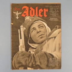 DER ADLER JOURNAL DE PROPAGANDE AVIATION ALLEMANDE N°25 DU 14 DECEMBRE 1943 LUFTWAFFE