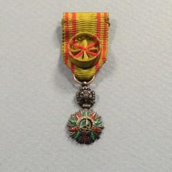 REDUCTION DE LA MEDAILLE D'OFFICIER DE L'ORDRE DU NICHAN IFTIKAR ALI BEY 1882-1902 °