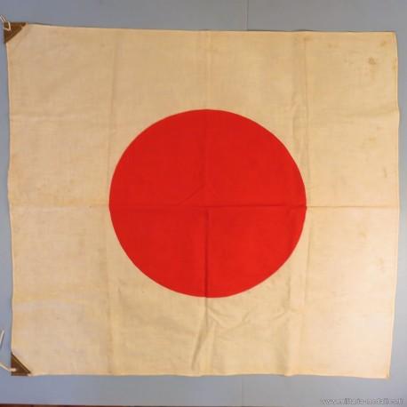DRAPEAU JAPONAIS HI NO MARU SOLEIL LEVANT FABRICATION ANCIENNE SECONDE GUERRE