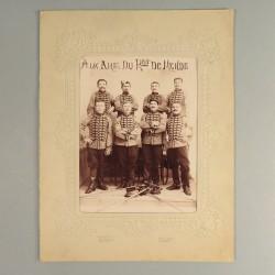 GRANDE PHOTO CORTONNEE DU 8 ème REGIMENT DE CHASSEURS A CHEVAL DE MENDE VERS 1900