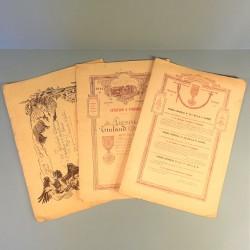 ENSEMBLE D'UN ARTILLEUR AU 55 ème REGIMENT DARTILLERIE DIPLOME DE VERDUN ET CITATIONS GUERRE 1914 1918