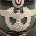 TRES BEAU SHAKO DE LA POLICE ALLEMANDE MODELE 1936 FABRICATION HANS ROMER WW2