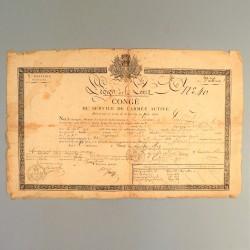 CONGE DE LA LEGION DE LA LOIRE DU 31 DECEMBRE 1819 ARCHIVE RESTAURATION PLACE DE VALENCE