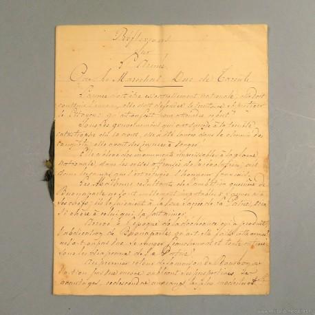HIVE EMPIRE REFLEXION SUR L'ARMEE PAR LE MARECHAL ET ¨PAIR DE FRANCE DUC DE TARENTE MACDONALD 1815