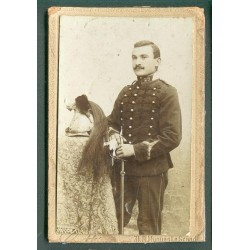 PHOTO CDV D'UN CAVALIER DU 29 ème REGIMENT DE DRAGONS