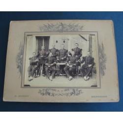 GRANDE PHOTO D'UN GROUPE DE SOLDATS DU 60 ème REGIMENT D'INFANTERIE DE LIGNE CLASSE 1894