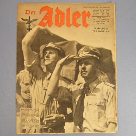DER ADLER JOURNAL DE PROPAGANDE AVIATION ALLEMANDE N°20 DU 5OCTOBRE 1943 LUFTWAFFE