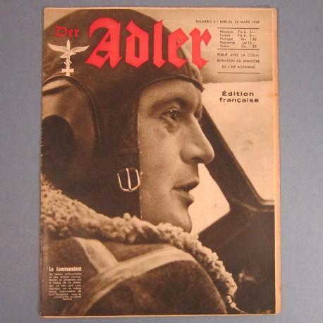 DER ADLER JOURNAL DE PROPAGANDE AVIATION ALLEMANDE N°6 DU 24 MARS 1942 LUFTWAFFE