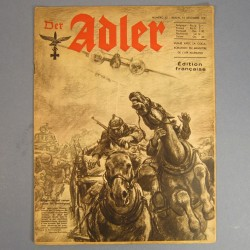 DER ADLER JOURNAL DE PROPAGANDE AVIATION ALLEMANDE N°25 DU 16 DECEMBRE 1941 LUFTWAFFE