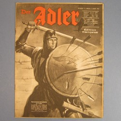 DER ADLER JOURNAL DE PROPAGANDE AVIATION ALLEMANDE N°5 DU 7 MARS 1944 LUFTWAFFE