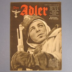 DER ADLER JOURNAL DE PROPAGANDE AVIATION ALLEMANDE N°25 DU 14 DECEMBRE 1943 LUFTWAFFE
