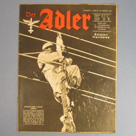DER ADLER JOURNAL DE PROPAGANDE AVIATION ALLEMANDE N°4 DU 23 FEVRIER 1943 LUFTWAFFE