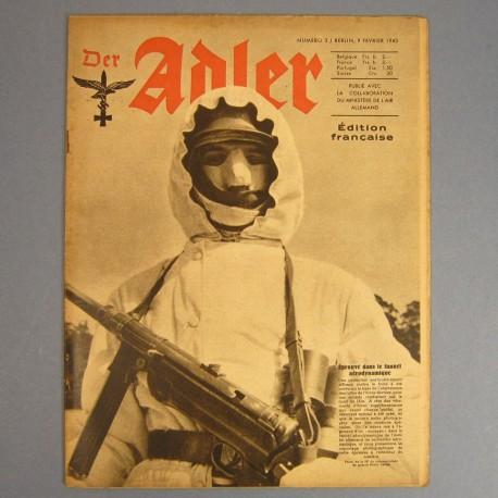 DER ADLER JOURNAL DE PROPAGANDE AVIATION ALLEMANDE N°3 DU 9 FEVRIER 1943 LUFTWAFFE