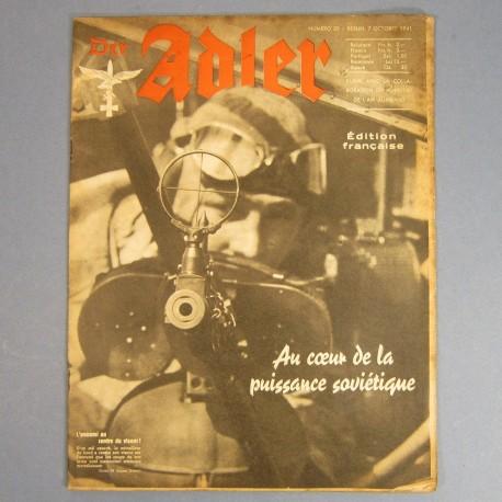 DER ADLER JOURNAL DE PROPAGANDE AVIATION ALLEMANDE N°20 DU 7 OCTOBRE 1941 LUFTWAFFE