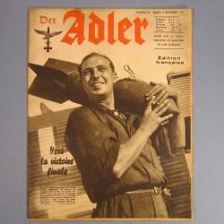 DER ADLER JOURNAL DE PROPAGANDE AVIATION ALLEMANDE N°18 DU 9 SEPTEMBRE 1941 LUFTWAFFE