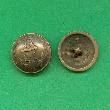 BOUTON MARINE EQUIPAGES DE LA FLOTTE MODELE 1872 DIAMETRE 2.3 cm