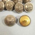 BOUTONS SAPEURS POMPIERS ARGENTES AU BUCHER DIAMETRE 2.3 cm