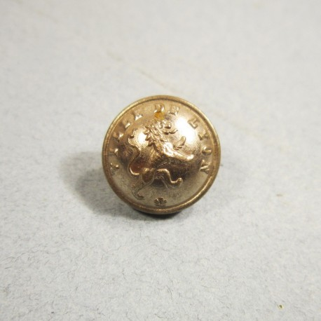 BOUTONS ARGENTES DE LA VILLE DE LYON SAPEURS POMPIERS DIAMETRE 1.5 cm