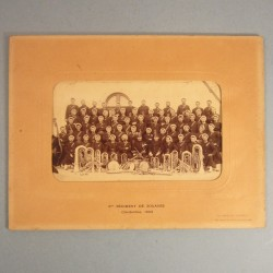 GRANDE PHOTO FANFARES DU 3 ème REGIMENT DE ZOUAVES 1903