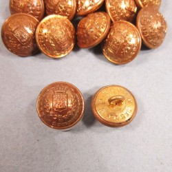 PETITS BOUTONS DORES GARDE REPUBLICAINE DIAMETRE 1.7 cm