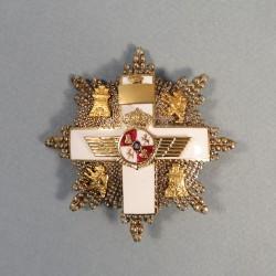 ESPAGNE PLAQUE DE GRAND CROIX DE L'ORDRE DU MERITE AERAUNOTIQUE 2 ème CLASSE 1849-1975