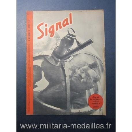 SIGNAL JOURNAL DE PROPAGANDE ALLEMANDE 1er NUMERO DE MAI 1942 N°9