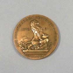 MEDAILLE D'HONNEUR UX ANCIENS COMBATTANTS DE LYON GUERRE 1870 1871