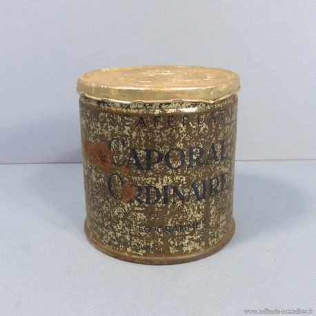 BOITE METALIQUE RATION DE TABAC SCAFERLATI CAPORAL ORDINAIRE 50 GRAMME CIGARETTES TROUPE 1930