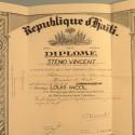REPUBLIQUE D'HAITI DIPLOME DE COMMANDEUR DE L'ORDRE NATIONAL HONNEUR ET MERITE ATTRIBUE EN 1941 °