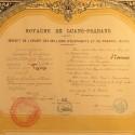 LAOS DIPLOME DE LA MEDAILLE DE L'ORDRE DU MILLIONS D'ELEPHANTS ET DU PARASOL BLANC ATTRIBUE A Mme THOMAS BLANCHE EN 1924 °