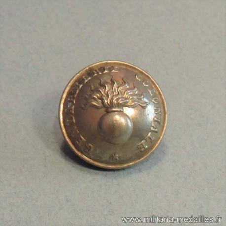 BOUTON GENDARMERIE COLONIALE DIAMETRE 23 mm MODELE 1870