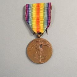 MEDAILLE BELGE INTERALLIEE DE LA VICTOIRE DE LA GRANDE GUERRE 1914-1918