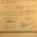 MAROC ENSEMBLE 2 DIPLOMES DE LA MEDAILLE D'OFFICIER DE L'ORDRE DU OUISSAM ALAOUITE EN FRANCAIS ET MAROCAIN ATTRIBUE EN 1937 °