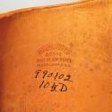 SUPERBE !! BOTTES A LACETS D'OFFICIER DITES A LA COLONIALE EN CUIR FAUVE FABRICATION USA TAILLE 43/44