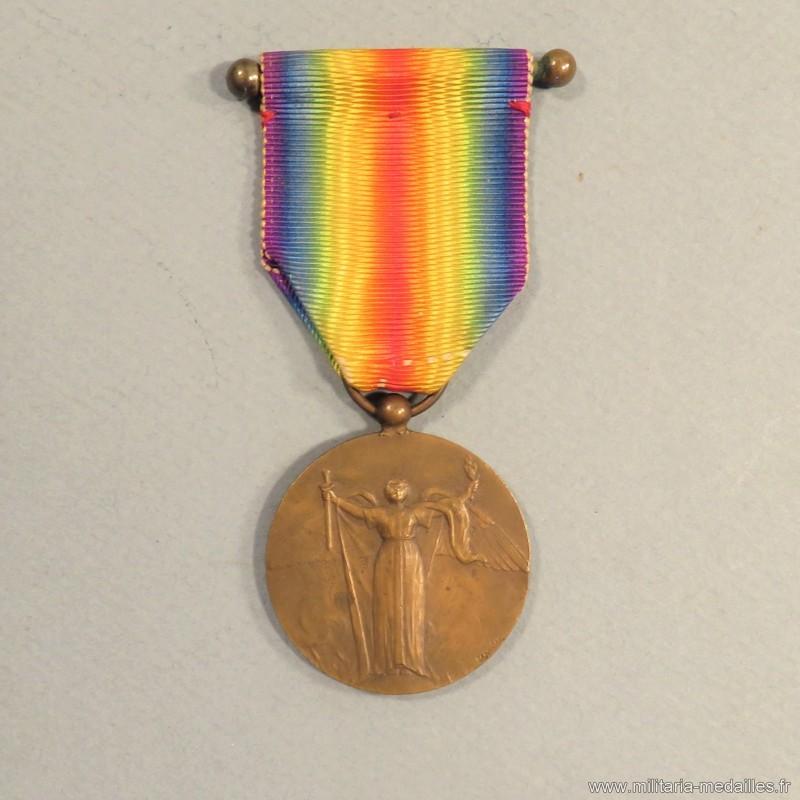 FRANCE Barrette de rappel pour la médaille interalliée 1914-1918.