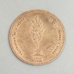 GRANDE MEDAILLE DE LA DEUXIEME REPUBLIQUE 1848 PLANTATION DE L'ARBRE DE LA LIBERTEE A LILLE GENERAL NEGRIER DELESCLUSE PILETTE