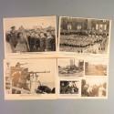 POCHETTE DE 8 PHOTOS DES ACTUALITES ALLEMANDE 7-8-1941 AKTUELLER BILDERDIENST KRIEGSMARINE JEUNESSES HITLERIENNES FRONT RUSSE