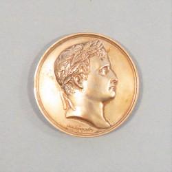 REFRAPPE NAPOLEON Ier MEDAILLE CREATION DE LA LEGION D'HONNEUR 1802 POINCON CORNE BR 1969 DIAMETRE 4.1 cm