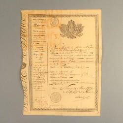 ARCHIVE CHARLES X PASSEPORT DE LA VILLE DE NIMES DU 30 MARS 1829