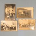 LOT DE 4 PHOTOS CARTES POSTALES DU PELOTON DE MITRAILLEURSES DE LA SECTION A DU 11 ème REGIMENT DE HUSSARD VERS 1910 HOTCHKISS