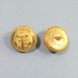 BOUTONS DORES MARINE FABRICANT A.B. & Cie DIAMETRE 2.1 cm