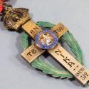 GRECE MEDAILLE DE COMMANDEUR DE L'ORDRE DU PATRIARCHE DES CROISES DE L'EGLISE ORTHODOXE DE JERUSALEM EN BOITE
