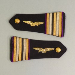 PAIRE D'EPAULETTES AVIATION COMMISSAIRE LIEUTENANT COLONEL ARMEE DE L'AIR