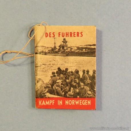 "JOURNEE ALLEMANDE PETIT LIVRET DE PHOTOS DE PROPAGANDE ""DER FUHRERS KAMPF IN NORWEGEN"" LE CHEF BATAILLE EN NORVEGE"